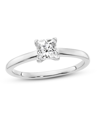 Jared Diamond Solitaire Engagement Ring 1/2 ct tw Princess-cut 14K White Gold