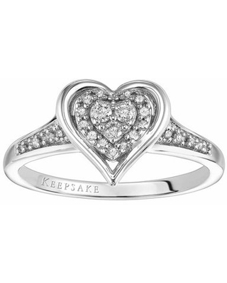 Paloma 1/6 Carat T.W. Diamond Sterling Silver Promise Ring