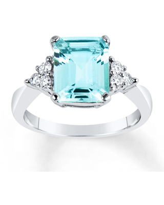 ec2219b8c Spring Savings is Here! Get this Deal on Aquamarine Ring 1/4 ct tw ...