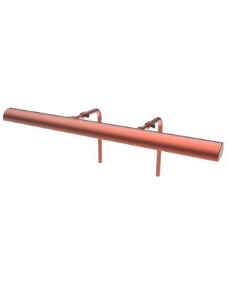 """Cocoweb Classic Hardwired 1-Light Frame Mounted Picture Light ALEDV- Finish: Rose Gold Size: 7.5"""" H x 24"""" W x 7"""" D"""