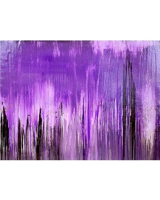 "Art Excuse 'Purple Forest' Framed Print on Canvas in Purple/Black AE106 Size: 40"" H x 60"" W"