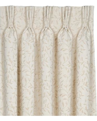 Great Prices For Eastern Accents Brookfield Hayes 100 Cotton Floral Room Darkening Thermal Pinch Pleat Single Curtain Panel Side Right 100 Cotton In Ivory Cream