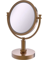 Allied Brass 8 in. Vanity Top Make-Up Mirror 3X Magnification in Brushed Bronze