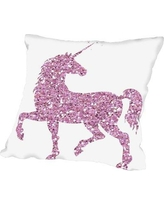 "Viv + Rae Sierra Bolsover Throw Pillow VVRO8802 Size: 20"" H x 20"" W x 2"" D, Color: Pink Glitter"