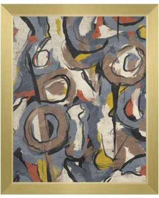 """Click Wall Art 'Scribble Scrabble' Framed Print of Painting CBS0002781FRA Size: 26.5"""" H x 22.5"""" W Format: Gold Framed"""