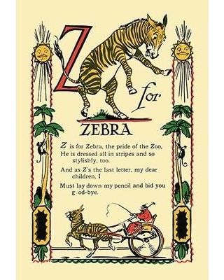Buyenlarge Z for Zebra by Tony Sarge Vintage Advertisement 0-587-07446-9