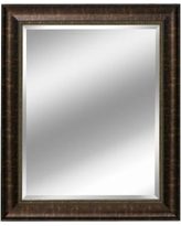 Head West Distressed Beveled Wall Mirror, Brown