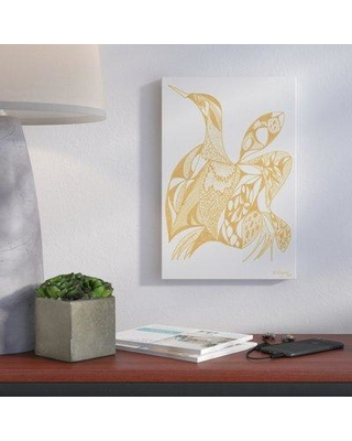 """Brayden Studio Goose Painting Print on Wrapped Canvas BRYS1633 Size: 45"""" H x 30"""" W x 1.5"""" D"""