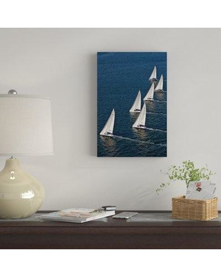 """East Urban Home 'Sailboats' Photographic Print on Canvas EBHS7771 Size: 12"""" H x 8"""" W x 0.75"""" D"""