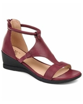 Journee Collection Women's Trayle Sandal Wedges - Wine