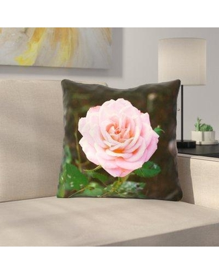 "East Urban Home Rose Indoor Throw Pillow URBR8903 Size: 18"" x 18"""