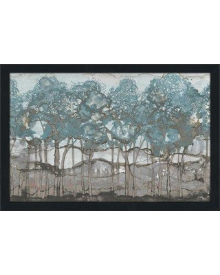"""PicturePerfectInternational 'Muted Watercolor Forest ' by Elizabeth Medley Framed Watercolor Painting Print on Acrylic 705-6009_ Size: 21.5"""" H x 27.5"""" W x 0.75"""" D Frame Color: Espresso"""