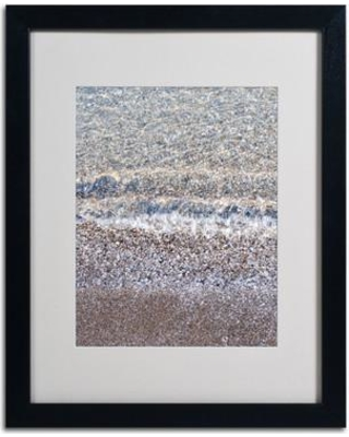 "Trademark Fine Art ""Lakeshore Abstract 2"" by Kurt Shaffer Matted Framed Photographic Print KS479- Frame: Black Size: 14"" H x 11"" W x 0.5"" D"