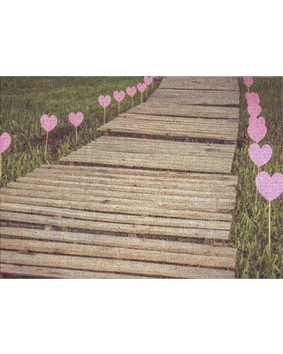 East Urban Home Road of Hearts Beige Area Rug X112200725 Rug Size: Rectangle 2' x 4'