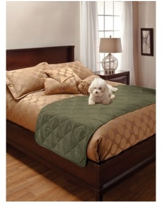 Faux Suede King Pet Bed Protector (Green)