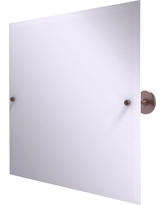 Allied Brass Shadwell Collection Frameless Landscape Rectangular Tilt Mirror with Beveled Edge in Antique Copper