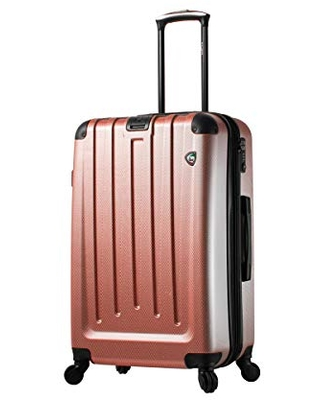 Mia Toro Italy Catena Hardside 26 Inch Spinner Luggage, Burgundy, One Size
