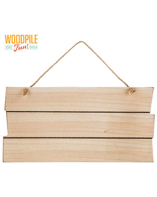 Wood Pallet Board Wall Decor with Rope Hanger
