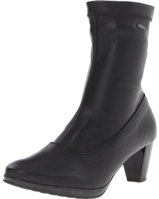 ara Women's Thelma Ankle Boot,Black Leather,9.5 M US