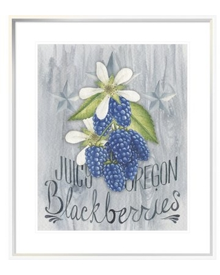 "'American Berries IV' Graphic Art Print on Canvas East Urban Home Format: White Framed Canvas, Matte Color: White, Size: 24"" H x 20"" W"