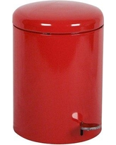 Witt 2-Piece 4 Gallon Step On Trash Can Set 2240 Finish: Red