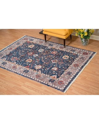Westfield Home Moravia Pyrenese Distressed Navy Area Rug - 12' x 15' (12' x 15' - Ivory/Beige)