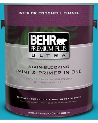 BEHR Premium Plus Ultra 1 gal. #P480-5 High Dive Eggshell Enamel Interior Paint and Primer in One