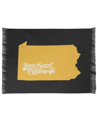 Pittsburgh Sports Colors Black/Golden Rod Area Rug East Urban Home