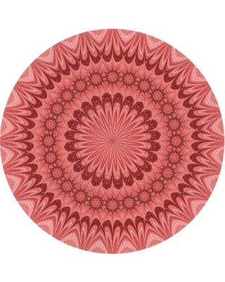 Spectacular Deals On East Urban Home Kofi Abstract Red Pink Area Rug X111326695 Rug Size Round 7