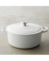 Le Creuset Signature Cast-Iron Matte Round Dutch Oven, 7 1/4-Qt., Matte White