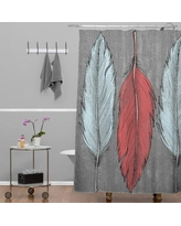 Deny Designs Wesley Bird Feathered Shower Curtain 13526-shocur