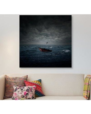 """East Urban Home 'Lost' Graphic Art Print on Wrapped Canvas ERNI1193 Size: 48"""" H x 48"""" W x 1.5"""" D"""