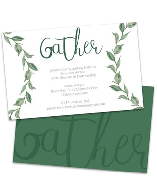 Personalized Gather Get Together Invitation