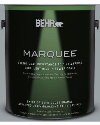 BEHR MARQUEE 1 gal. Home Decorators Collection #HDC-SM16-02 River Rock Grey Semi-Gloss Enamel Exterior Paint & Primer, Grey River Rock