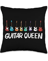 Best Guitar Player Instrument Musician Accessories Cool Guitar Gift For Women Mom Acoustic Guitarist Band Music Throw Pillow, 16x16, Multicolor