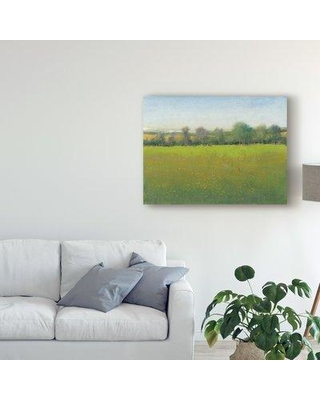"""Charlton Home 'Verdant Countryside I' Acrylic Painting Print on Wrapped Canvas W000717334 Size: 35"""" H x 47"""" W x 2"""" D"""
