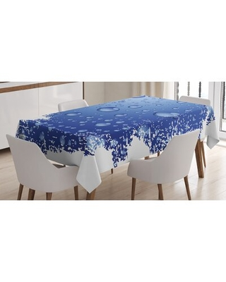 Wet Surface Inspired Bubble Water Rain Drop Crystals Freshness Tablecloth East Urban Home