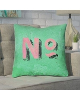 "Brayden Studio Enciso Graphic Square Wall Throw Pillow BYST5098 Size: 20"" x 20"", Color: Green/Pink"