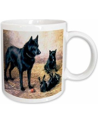 East Urban Home Schipperkes Coffee Mug W000696804 Size: 4.65'' H x 4.9'' W x 3.33'' D