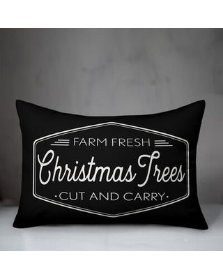 Croskey Farm Fresh Christmas Trees Lumbar Pillow The Holiday Aisle® Location: Outdoor