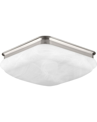 Progress Lighting Progress Lighting 11 38 in  Square Glass FM Collection 24  -Watt Brushed Nickel Integrated LED Flush Mount from Home Depot | People