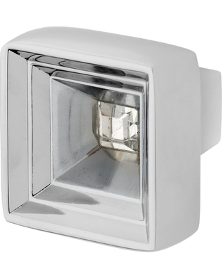 Wisdom Stone Hidden Treasure 1-1/16 in. Chrome with Clear Crystal Cabinet Knob