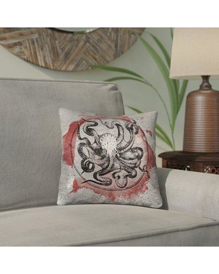 """Bloomsbury Market Carpenter Red Vintage Octopus Double Sided Print Throw Pillow BLMK6674 Size: 20"""" x 20"""" Type: Throw Pillow Material: Poly Twill"""