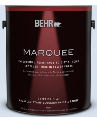 BEHR MARQUEE 1 gal. #580A-2 Icy Bay Flat Exterior Paint and Primer in One