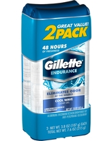 Gillette Cool Wave Clear Gel Antiperspirant and Deodorant Twin Pack - 7.6oz