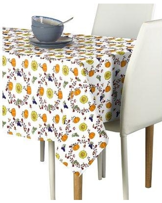 "The Holiday Aisle Levine Harvest Bounty Circle Tablecloth W000110975 Size: 60"" W x 104"" L"