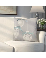 """Alcott Hill Decorative Holiday Geometric Print Throw Pillow ALCT6160 Size: 18"""" H x 18"""" W, Color: Gray"""