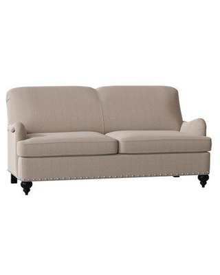 """Duralee Furniture Parkdale Recessed Arm Sofa WPG10-126- Body Fabric: Mcgivern Blue/Yellow Size: 84"""" W"""