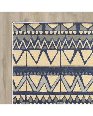 Bungalow Rose Abattoirs Hand-Tufted Beige/Blue Area Rug BNGL2404 Rug Size: Rectangle 8' x 11'