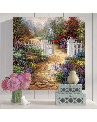 "East Urban Home 'Gateway to Enchantment' Painting Print on Canvas ESUR6434 Size: 26"" H x 26"" W x 1.5"" D"